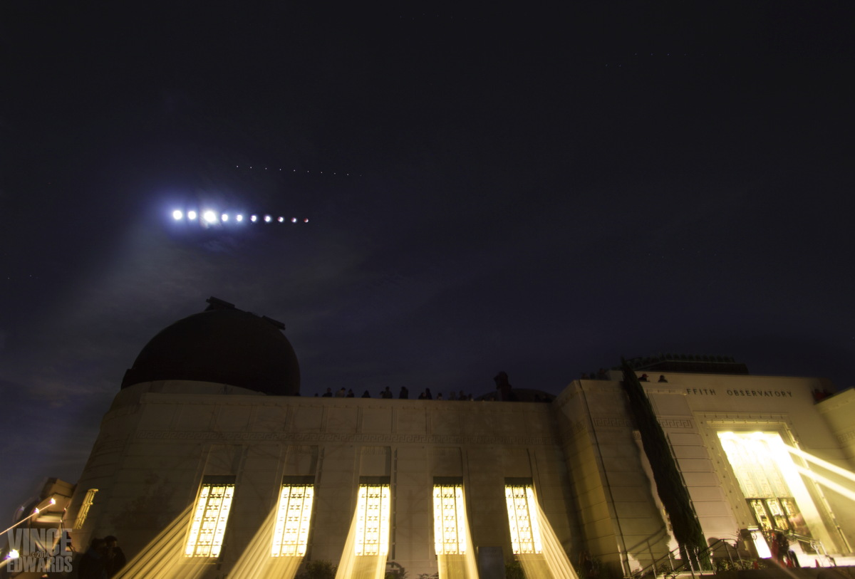 Lunar Eclipse Over Griffith Observatory, Los Angeles