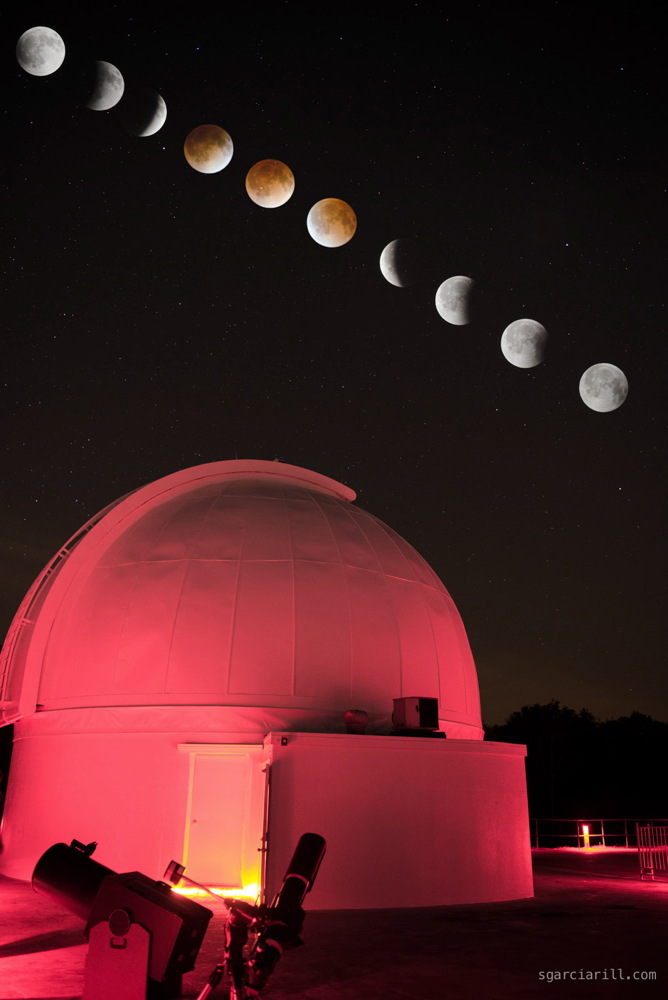 Lunar Eclipse Seen at George Observatory, Texas