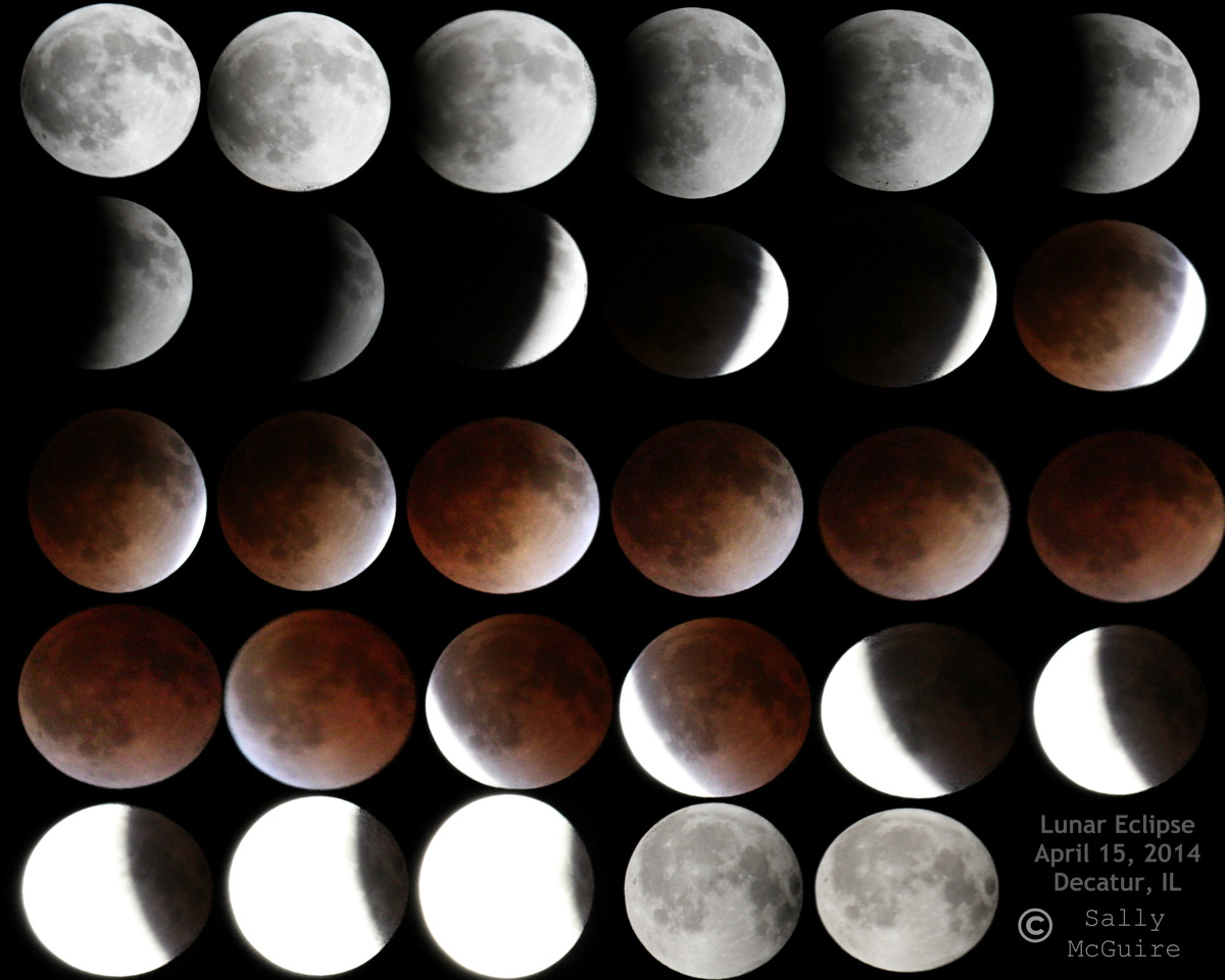 Total Lunar Eclipse of April 15, 2014, Seen in Long Creek
