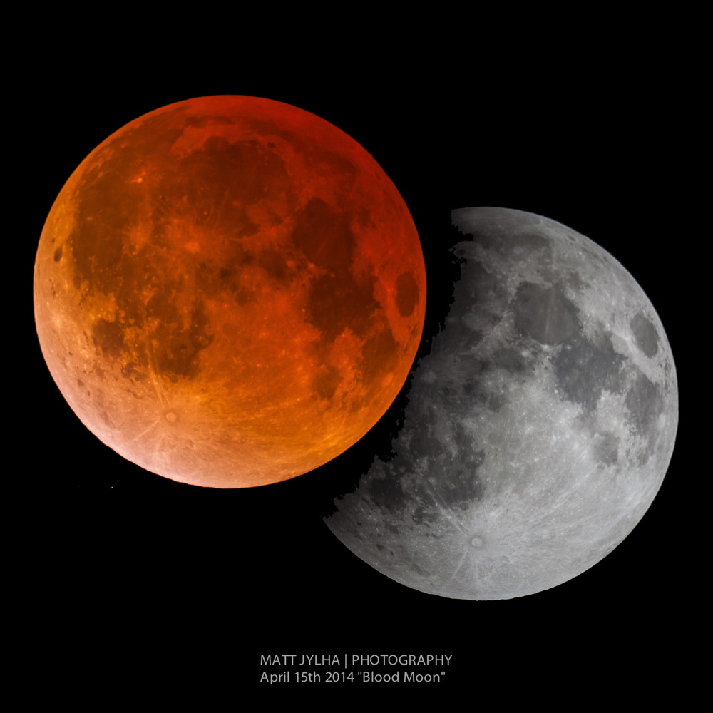 Total Lunar Eclipse of April 15, 2014, Seen in Orlando, Florida