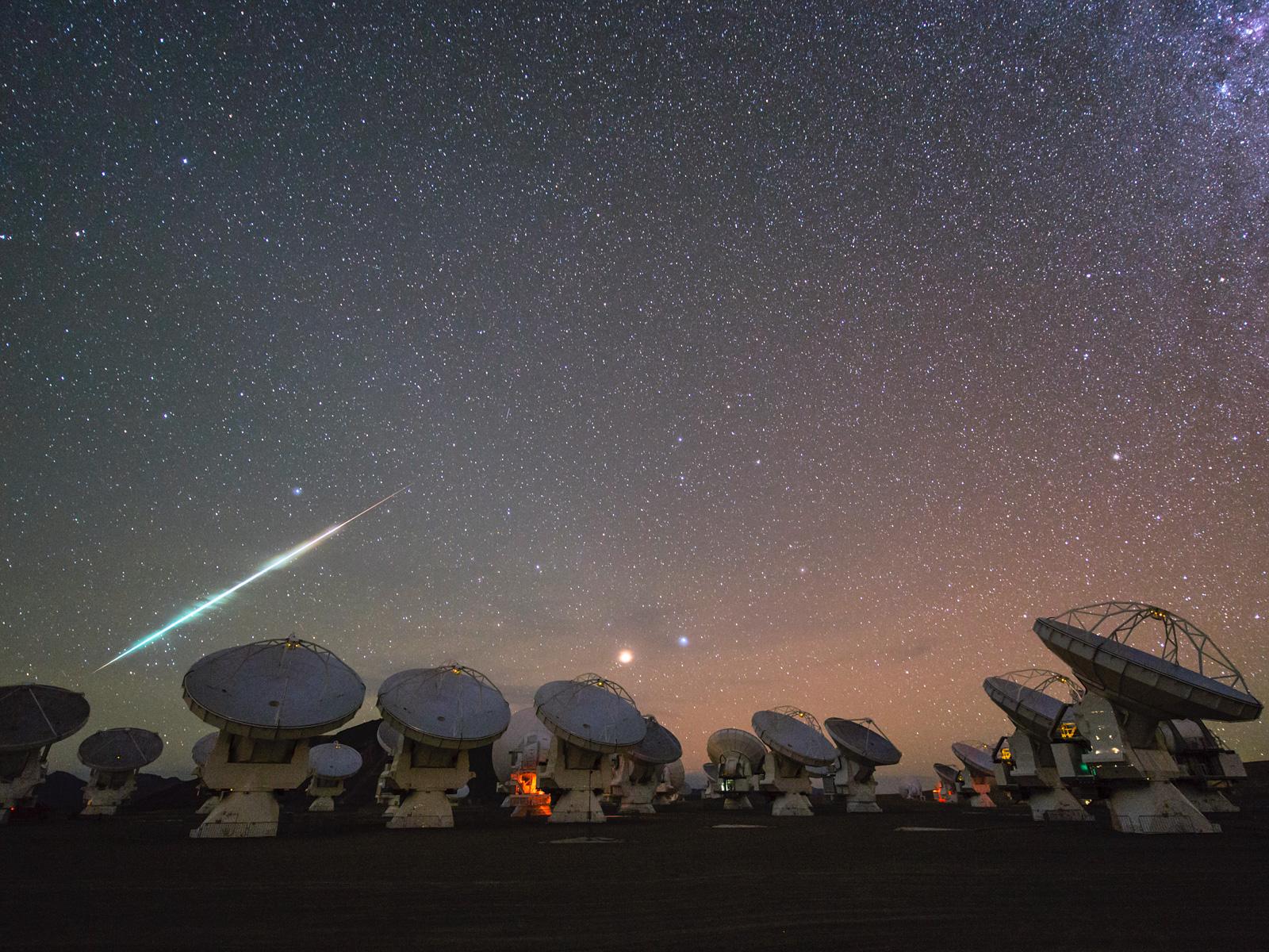Fiery Voyage Over ALMA | Space Wallpaper