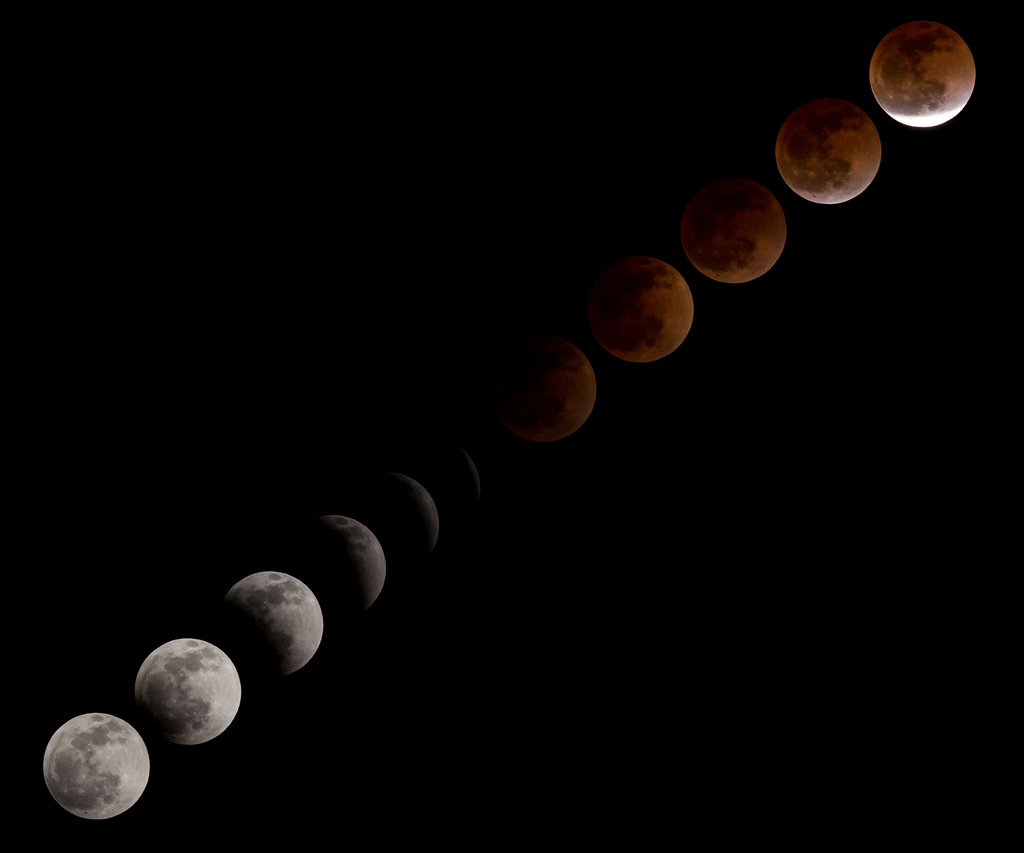 'Blood Moon' Multi-Frame Composite Image