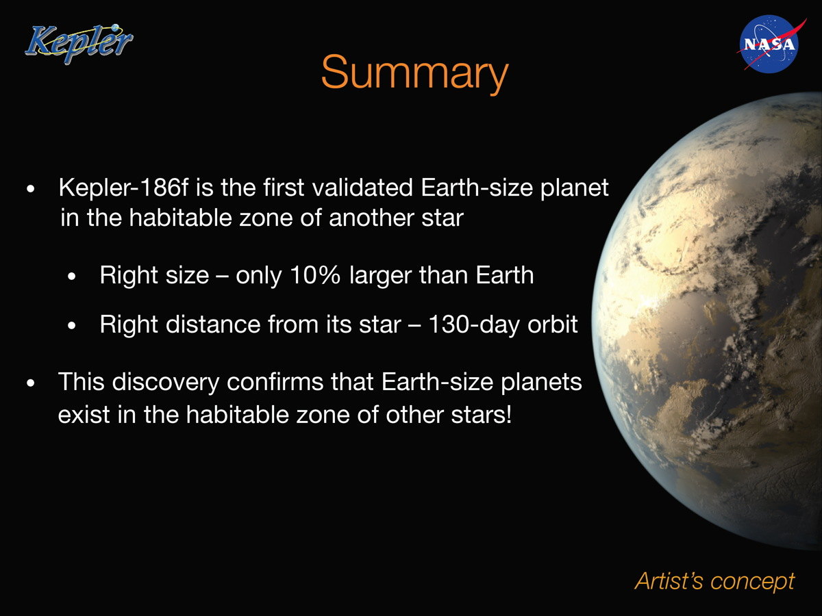 Earth-Size Planet Kepler-186f, a Possibly Habitable Alien ...