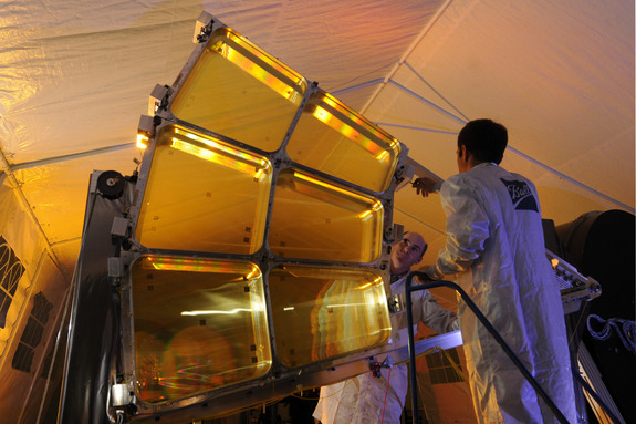 The Membrane Optical Imager for Real-Time Exploitation (MOIRE) is in Phase 2 of ground testing. If it ever reaches orbit. the telescope is billed as lighter than conventional designs and able to get high-definiton pictures of Earth from geosynchronous orbit.
