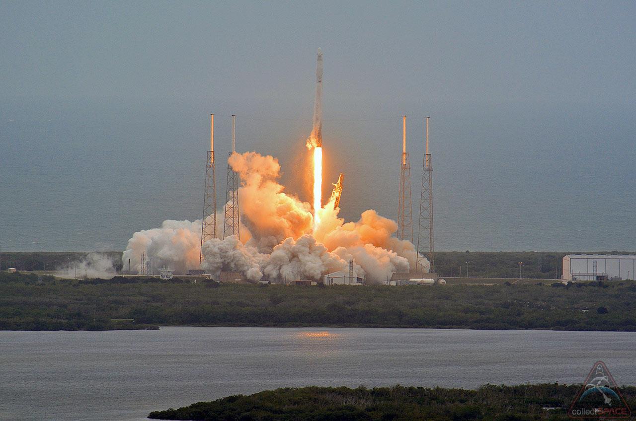spacex reusable rocket splash down - photo #14