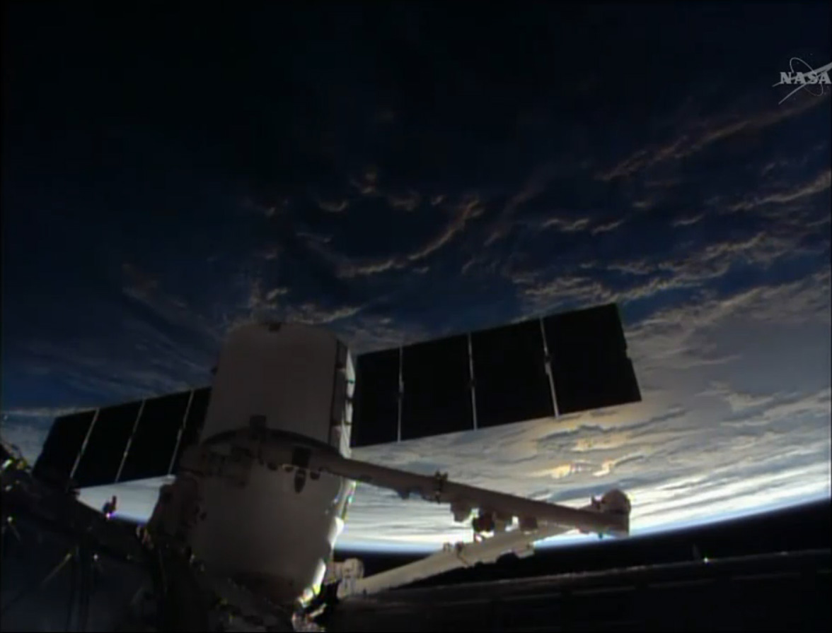 SpaceX Dragon and a Space Sunrise