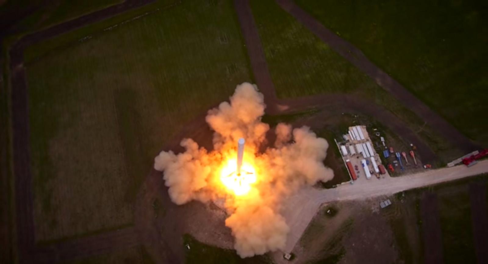 SpaceX F9R Rocket Test Flight Begins