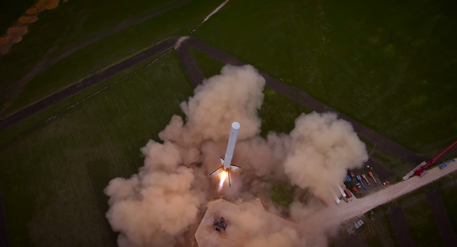 Liftoff for SpaceX Falcon 9 Reusable Rocket