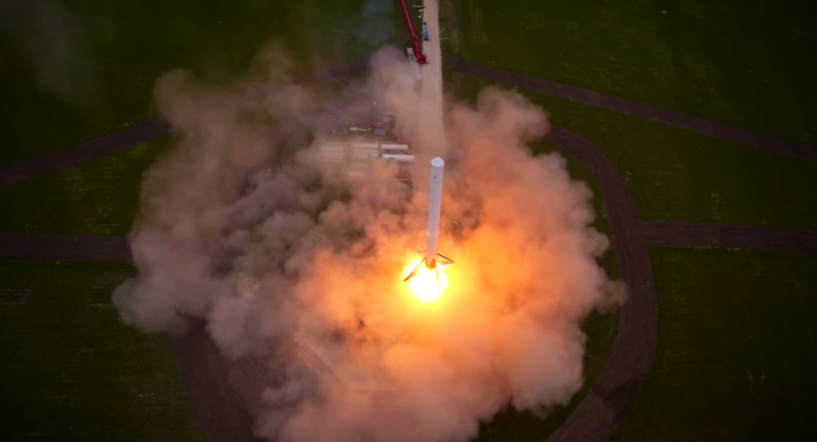 SpaceX F9R Reusable Rocket Landing Preps