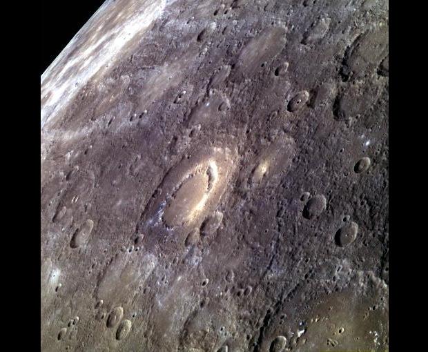 Peak-Ring Basin Scarlatti on Mercury
