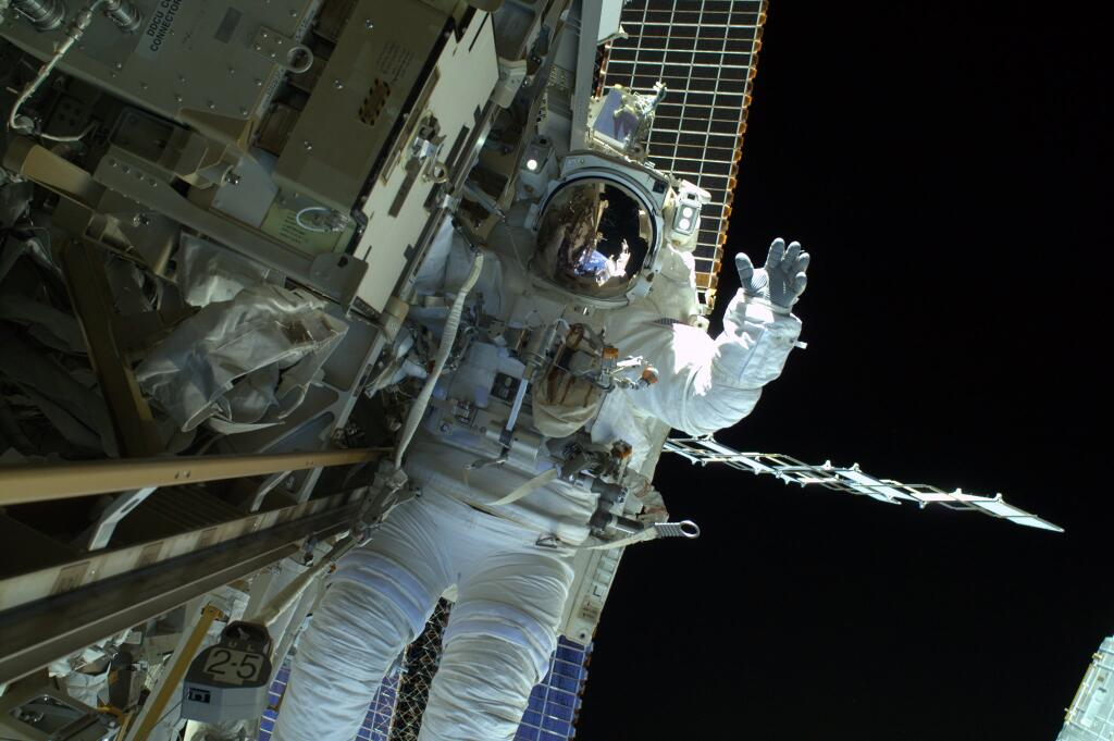 Astronaut During Spacewalk on April 23, 2014