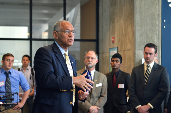 NASA Administrator Charles Bolden visited the University of Colorado, Boulder on April 18, 2014 to discuss the space agency's vision for deep space exploration.
