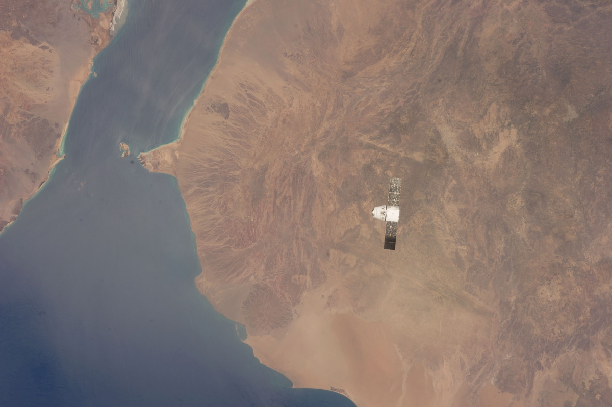 Dragon Capsule Above Yemen