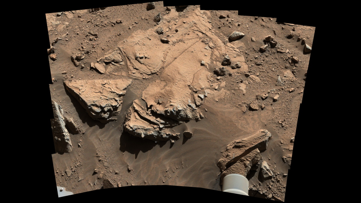 NASA's Curiosity Mars Rover Inspects Drill Site