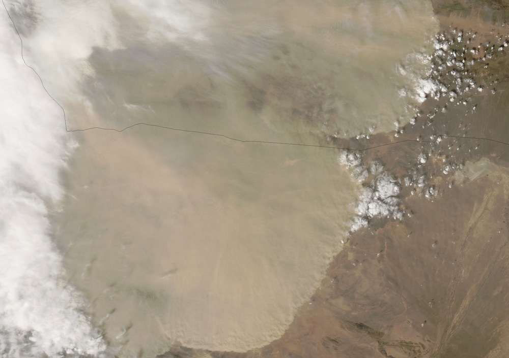 China's 'Great Wall of Dust' Seen From Space