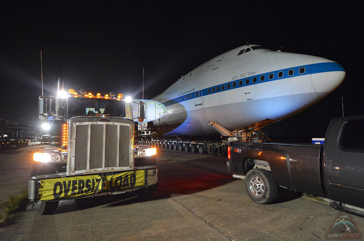 NASA Shuttle Carrier Jumbo Jet Ready to Roll on Houston Road Trip