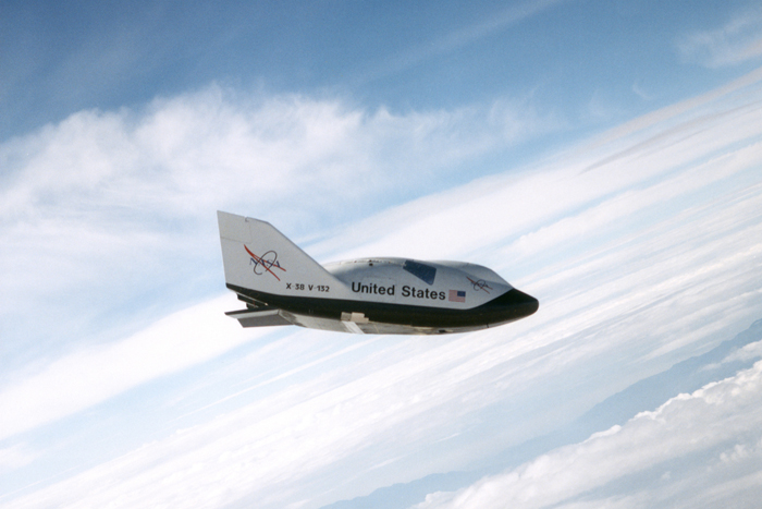 Space History Photo: X-38 Ship #2 in Free Flight