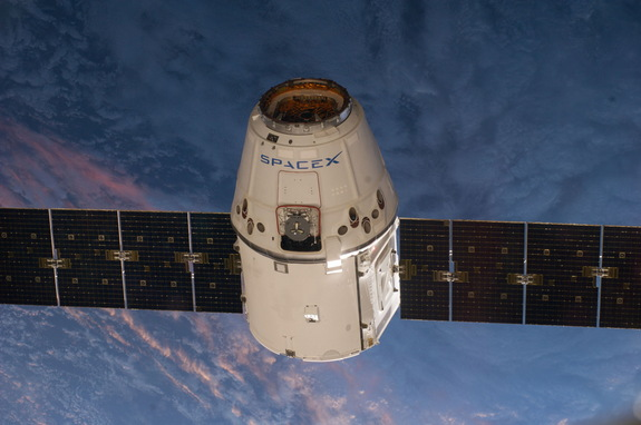 This is one of an extensive series of still photos documenting the arrival and ultimate capture and berthing of the SpaceX Dragon at the International Space Station, as photographed by the Expedition 39 crew members onboard the orbital outpost. The spacecraft was captured by the space station and successfully berthed, following the April 20 arrival.