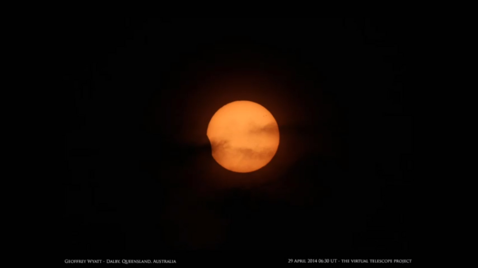 Partial Solar Eclipse of April 29, 2014: Geoffrey Wyatt