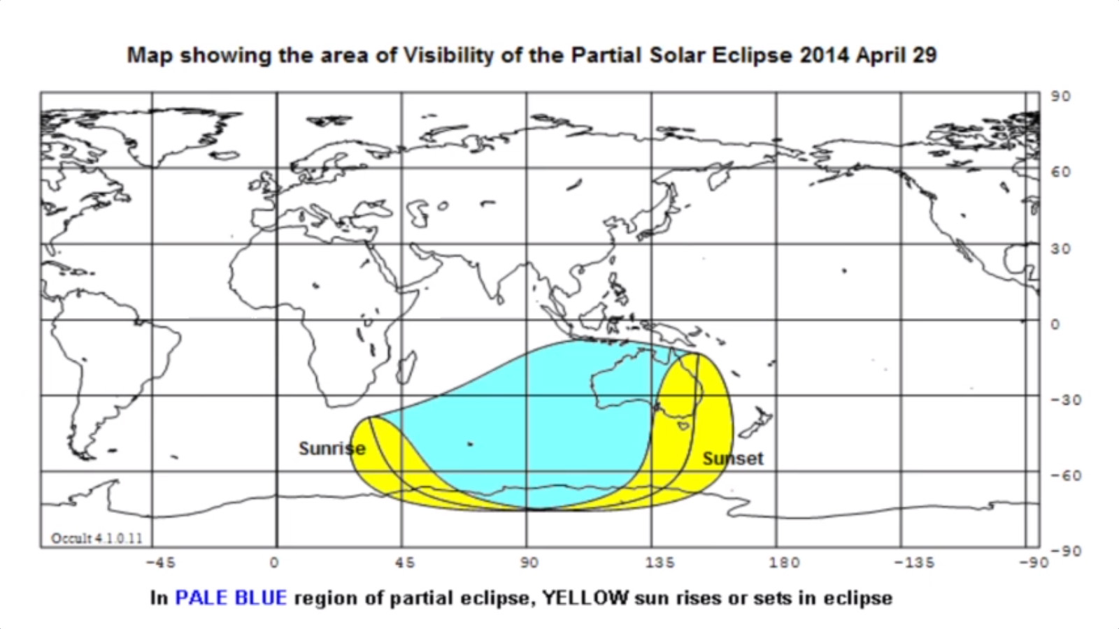 Solar Eclipse Visibility Map: April 29, 2014