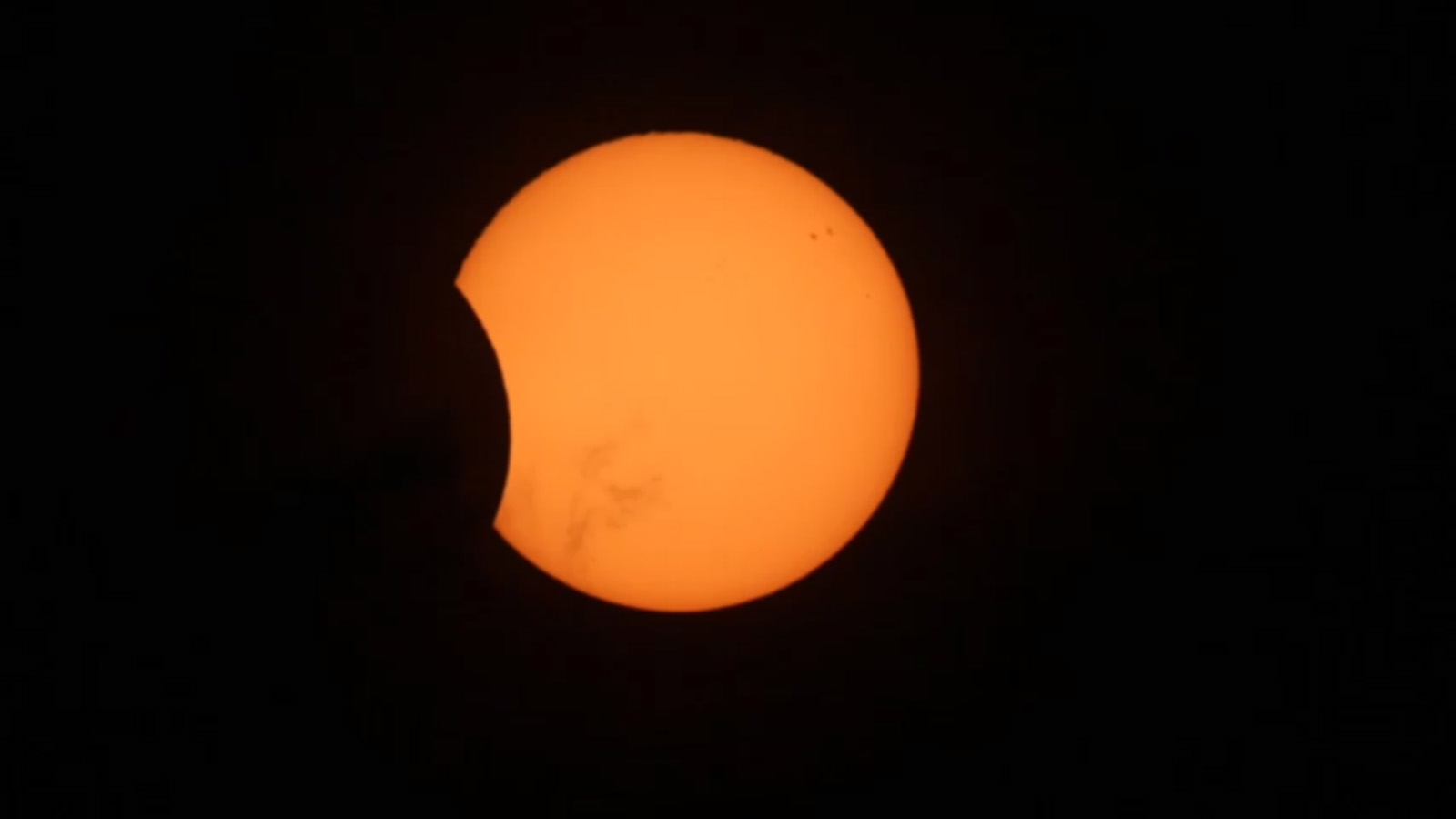 Partial Solar Eclipse View of April 29, 2014