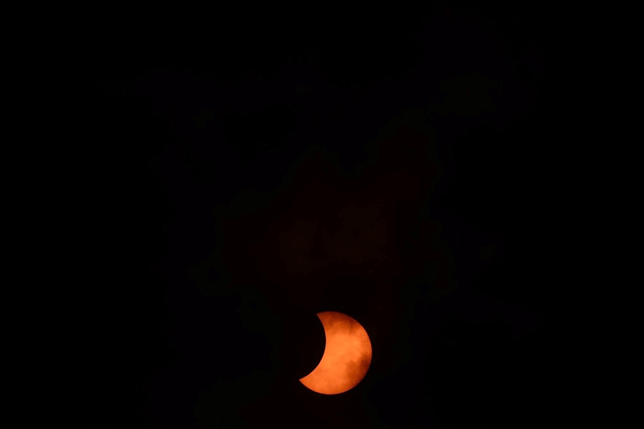 Solar Eclipse and Clouds on April 29: Jay Pasachoff