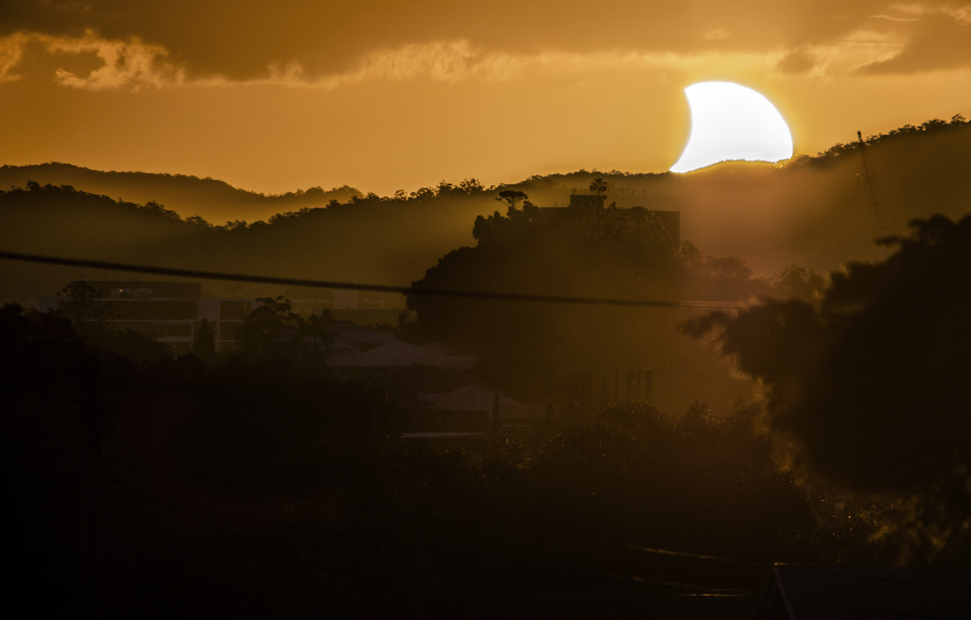 Sunset Solar Eclipse