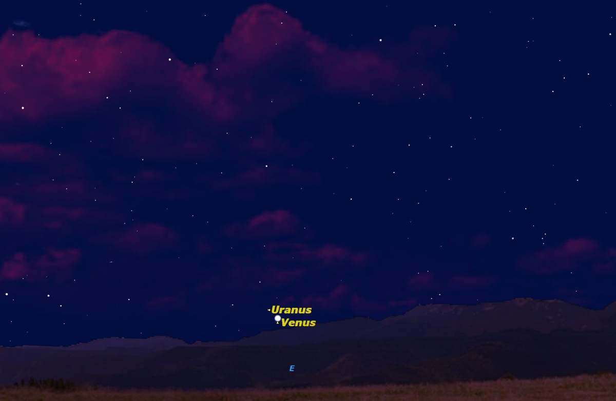 Venus and Uranus, May 2014