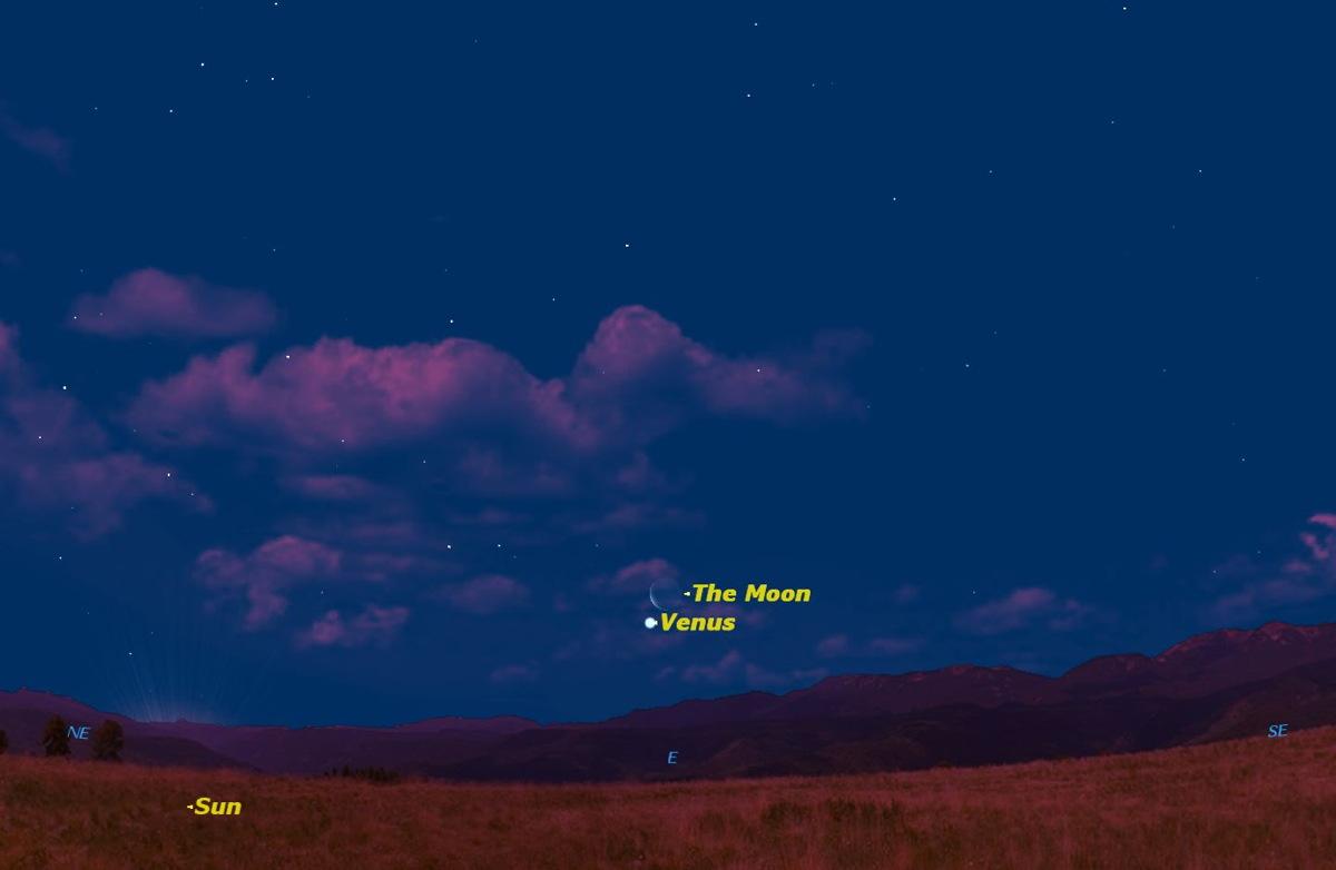 See Venus and the Moon Pair Up at Dawn on Sunday