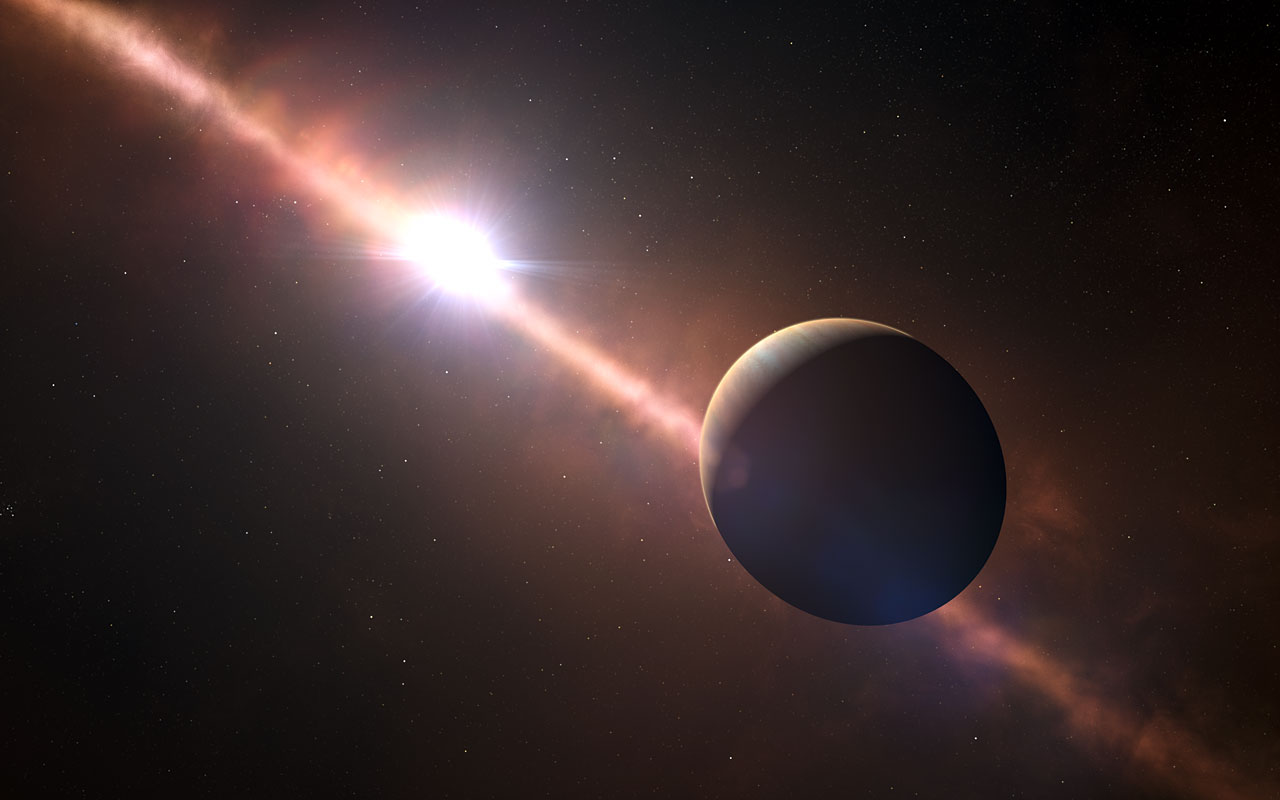 Artist's Impression of the Planet Beta Pictoris b