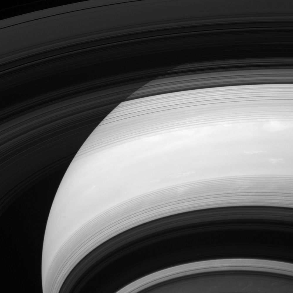 Saturn's Rings' Cast Shadows