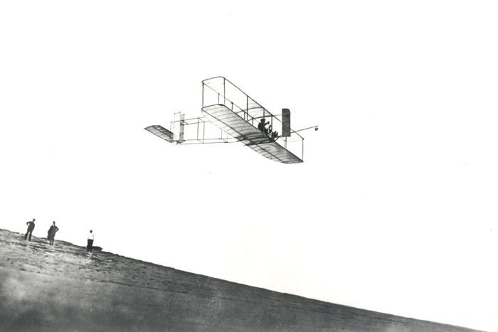 Space History Photo: Orville Wright Tests His Gilder at Kitty Hawk, NC