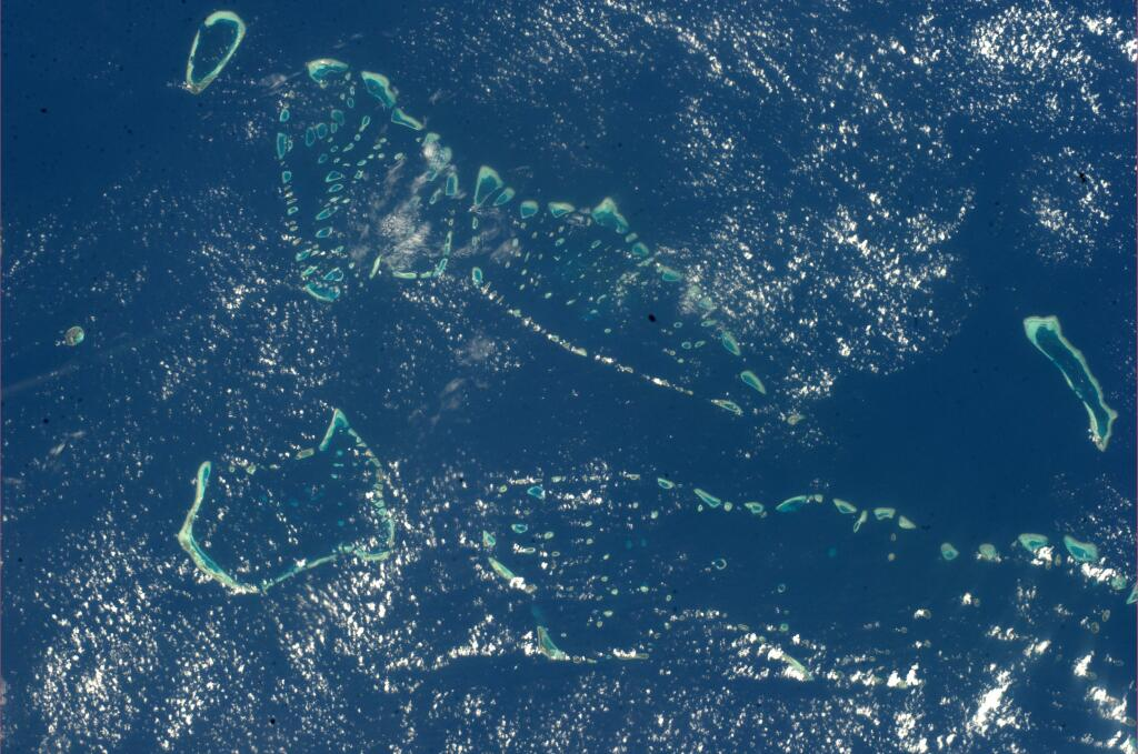 Maldives Atolls from Space