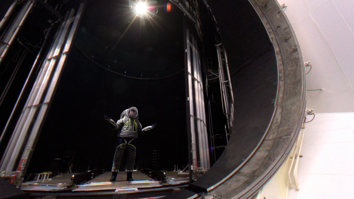 'Trends in Society' Z-2 Spacesuit in Vacuum Chamber