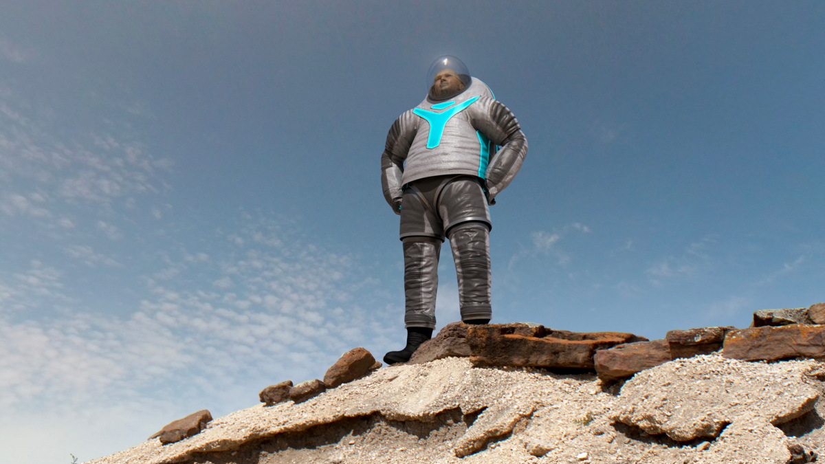 NASA Unveils Futuristic Z-2 Spacesuit: Mars-Tough Duds that Glow (Photos)