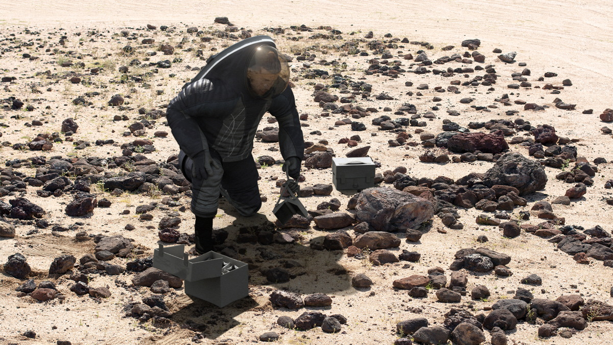 'Biomimicry' Spacesuit for Studying Rocks