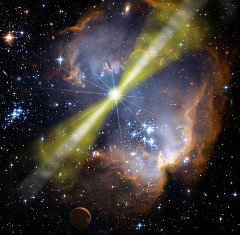 Weird Corkscrew-Shaped Light Unleashed by Universe's Most Powerful Explosions