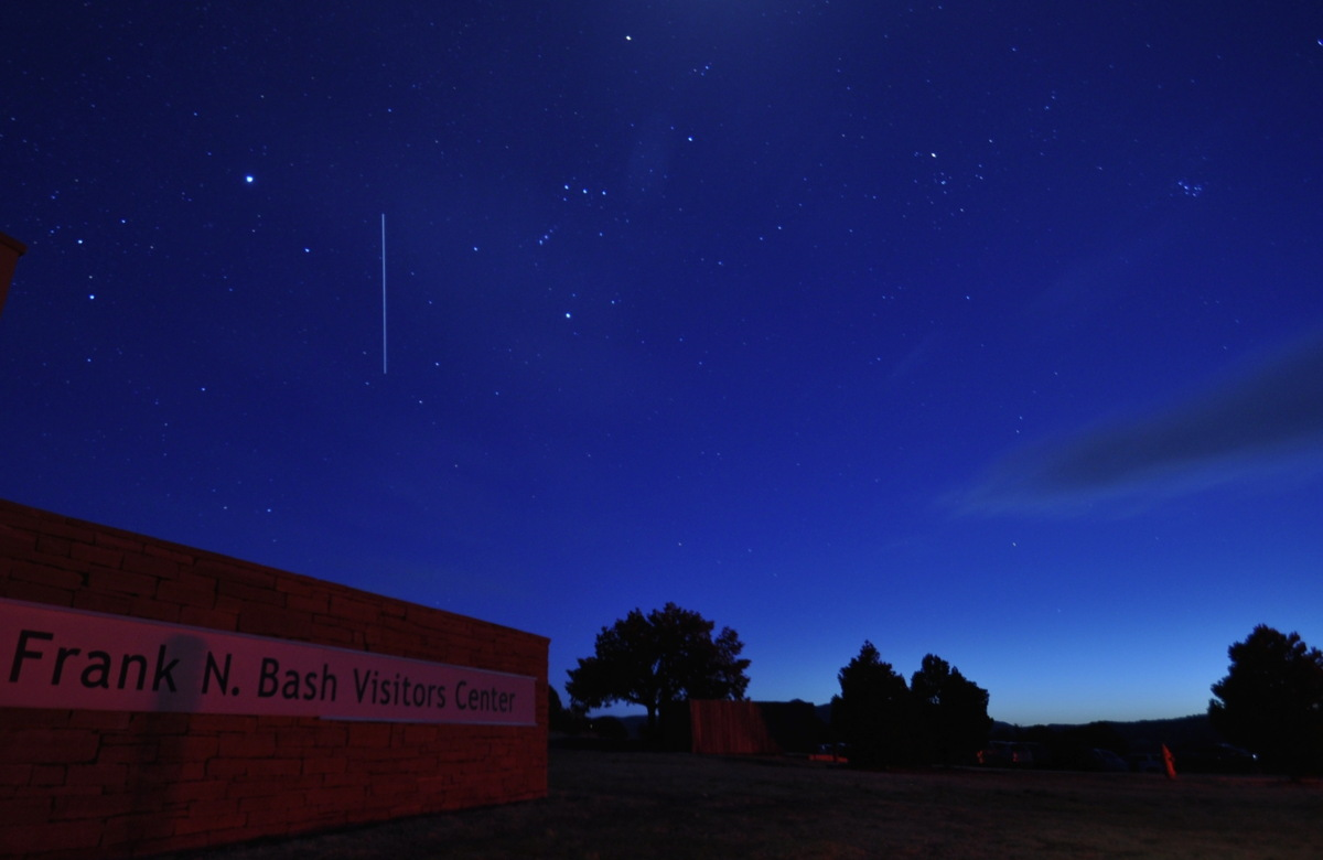 ISS Over McDonald Observatory, Texas