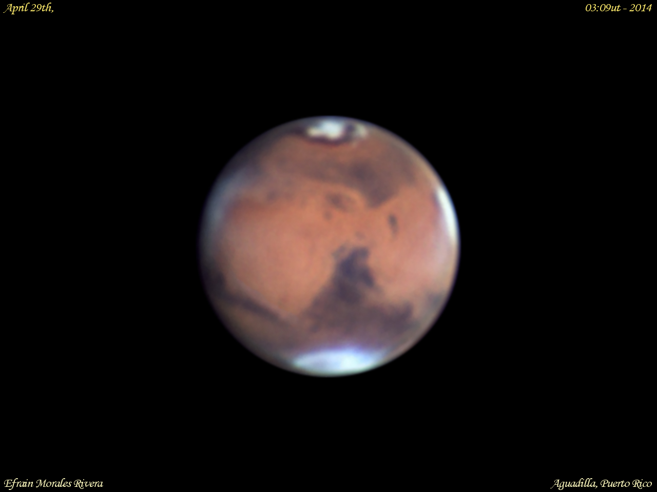 Mars Seen in Puerto Rico