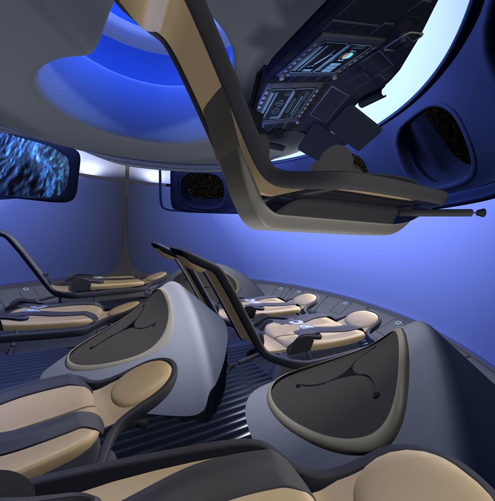 Boeing Unveils Cabin Design for Commercial Spaceliner
