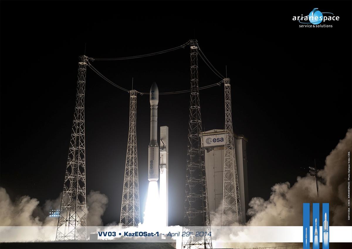Europe's Vega Rocket Launches Earth-watching Satellite for Kazakhstan