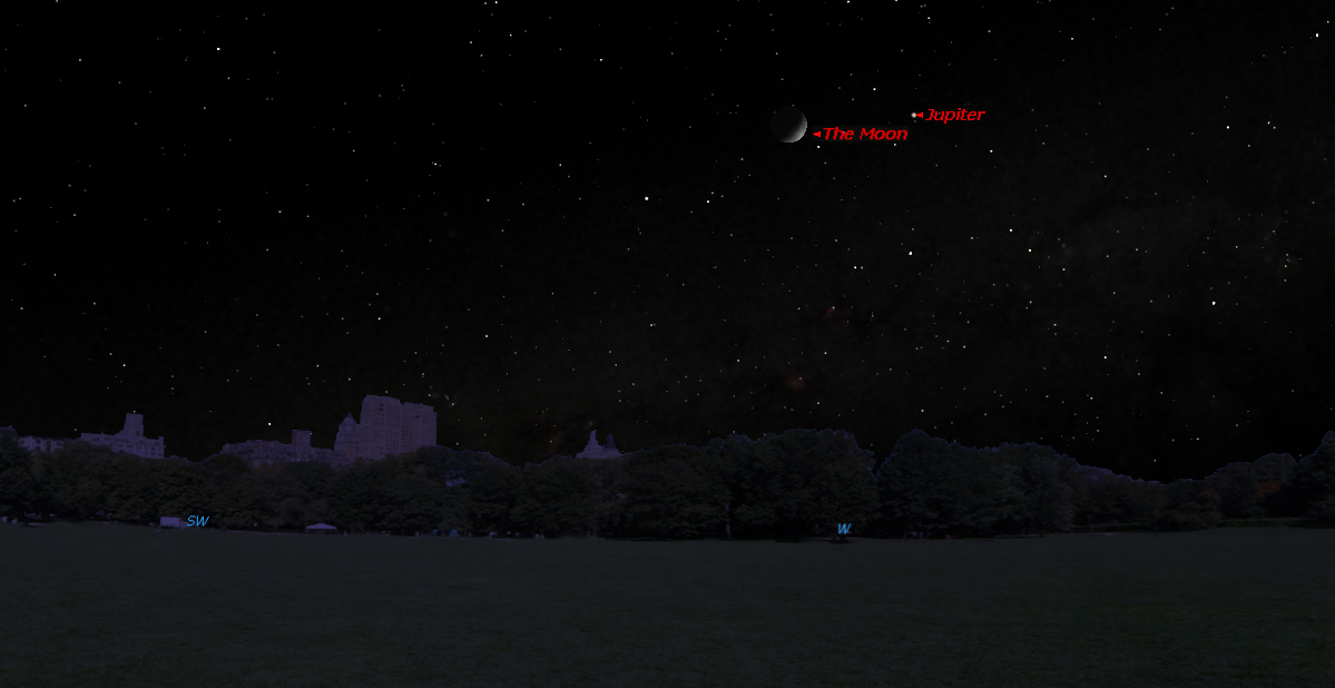 Jupiter Near Moon: May 4, 2014