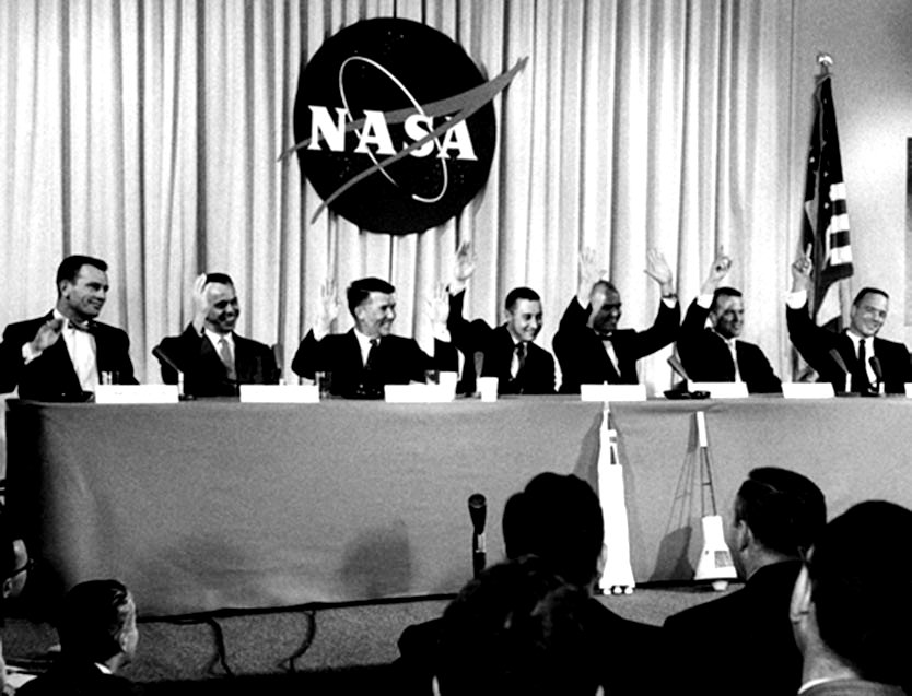 Mercury Astronauts at April 9, 1959, News Conference