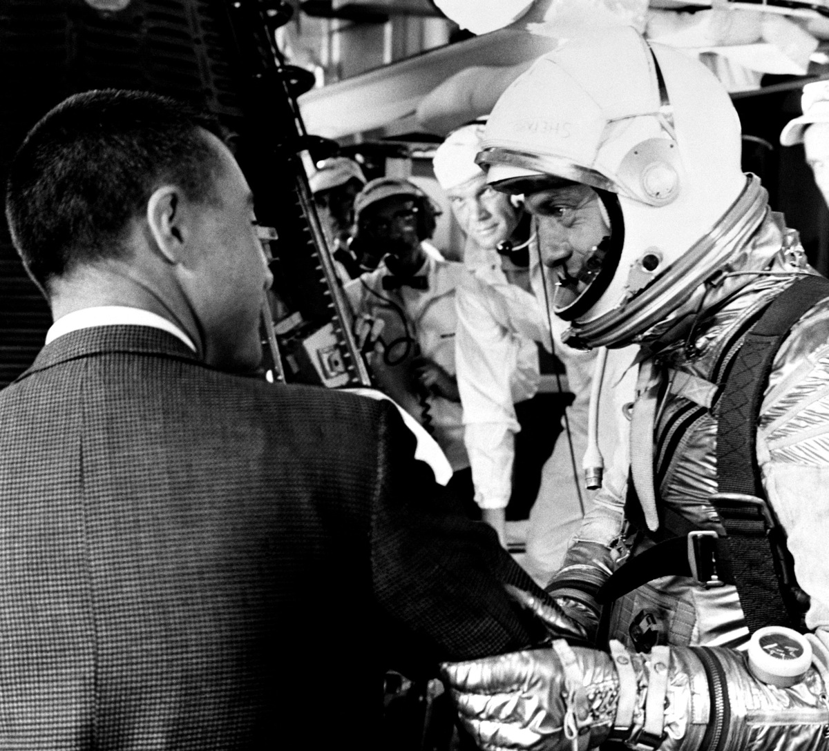 Alan Shepard Speaks with Gus Grissom