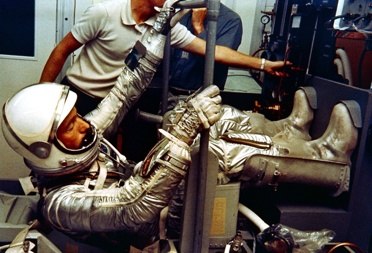 Scott Carpenter in Pressure Suit