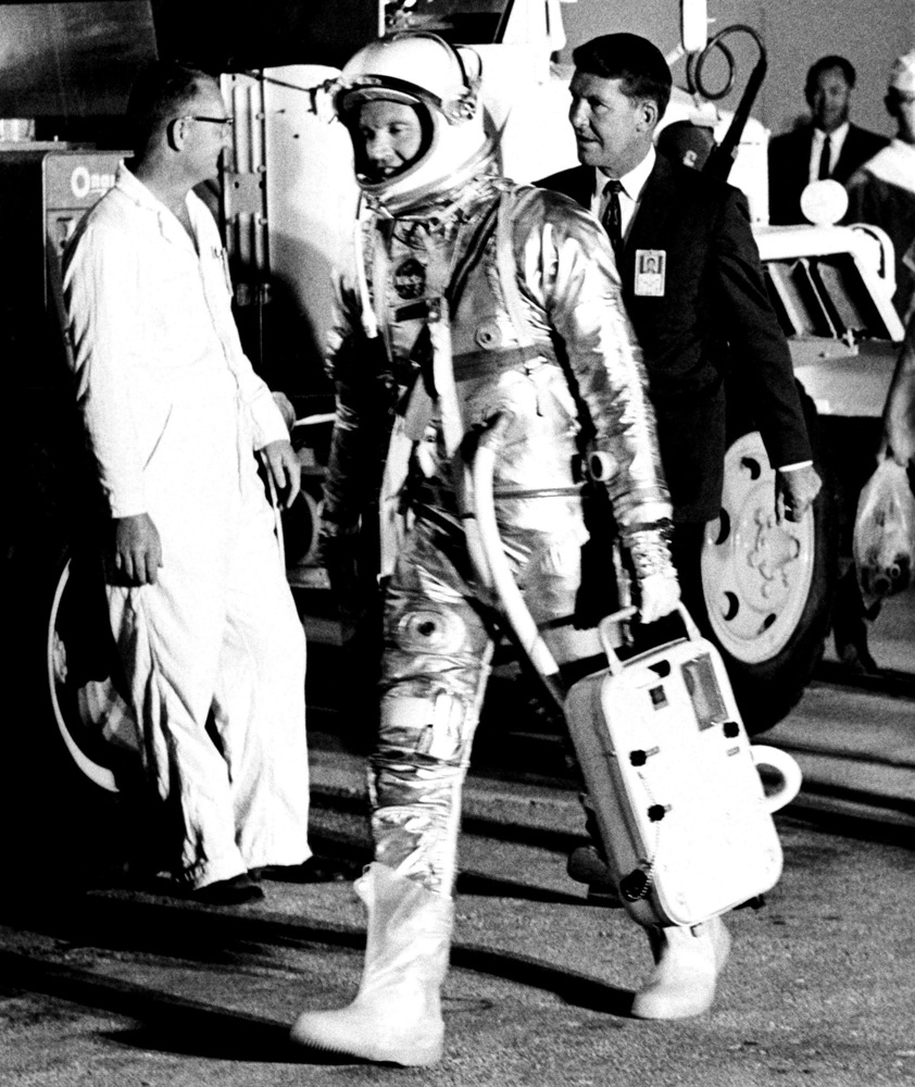 Gordon Cooper Departs the Crew Quarters
