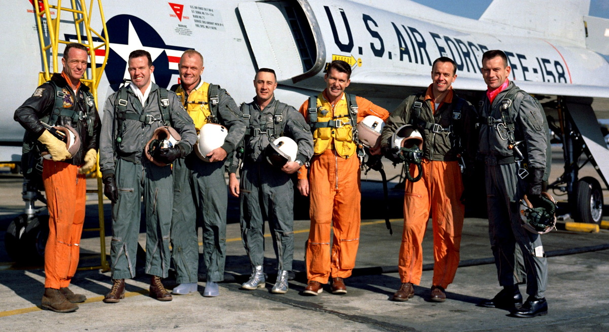 Project Mercury Astronauts and Convair F106-B Aircraft