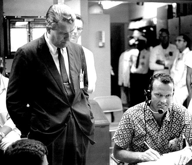 Wernher von Braun and Gordon Cooper