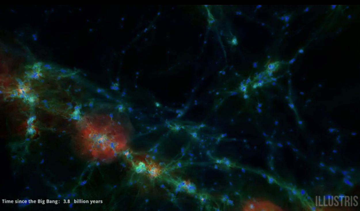 A New Simulation of Cosmic Evolution
