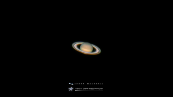 This image of Saturn was taken from Frosty Drew Observatory in Charlestown, Rhode Island by amateur astronomer Scott MacNeill.